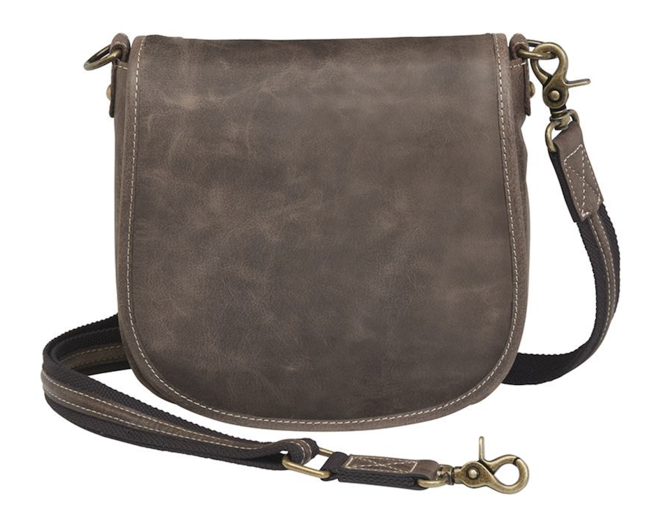 GTM:CZY-16 Simple Distressed Buffalo Pouch front Concealed Carry Purse