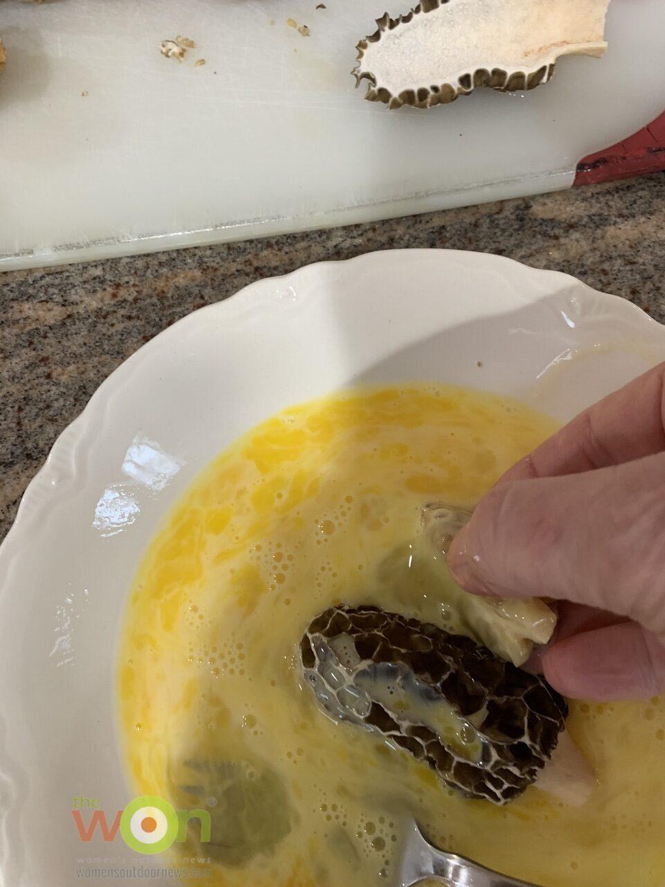 eggs wash for morels