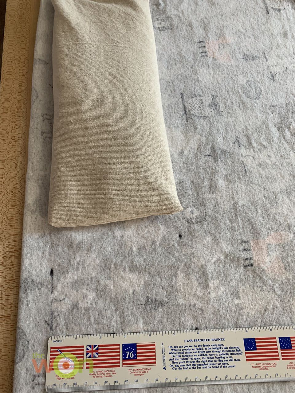extra fabric for back of bag