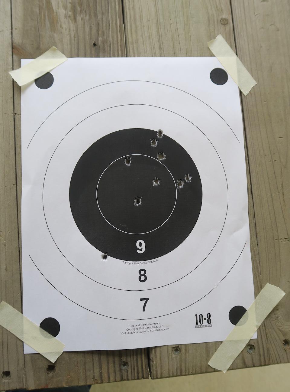 25 yards FBI Bullseye Test