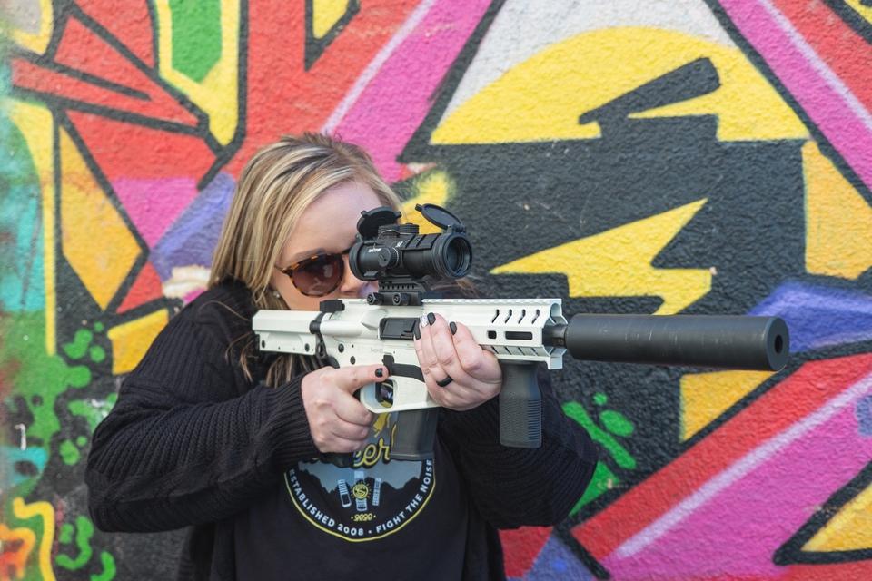AR pistol and SilencerCo silencer