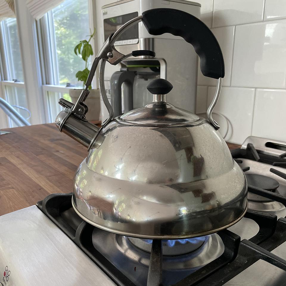 Boiling Water in Kettle