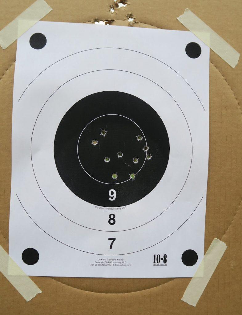 FBI Bullseye test target 15 yards
