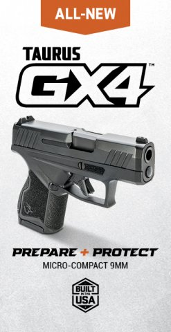 The all-new Taurus GX4™ Our first-ever micro-compact 9mm, boldly outclasses anything else in its class. Exceptionally affordable EDC pistol