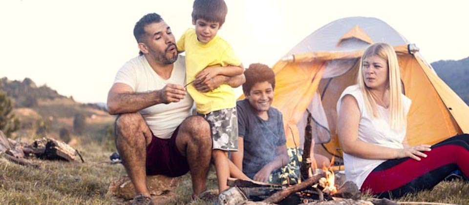 family camping on the mountain Vacation Spots