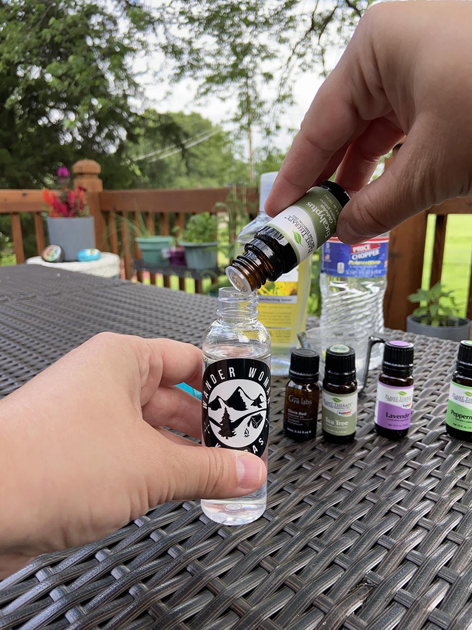 Adding Eucalyptus Essential Oil