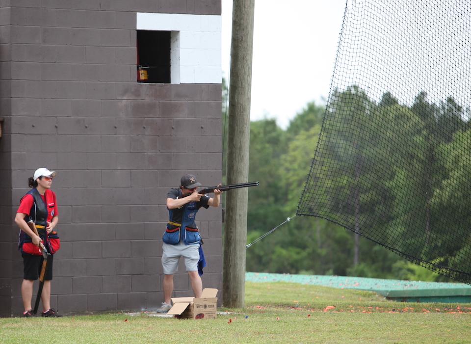 Green-June-Skeet high house Clay Shooting