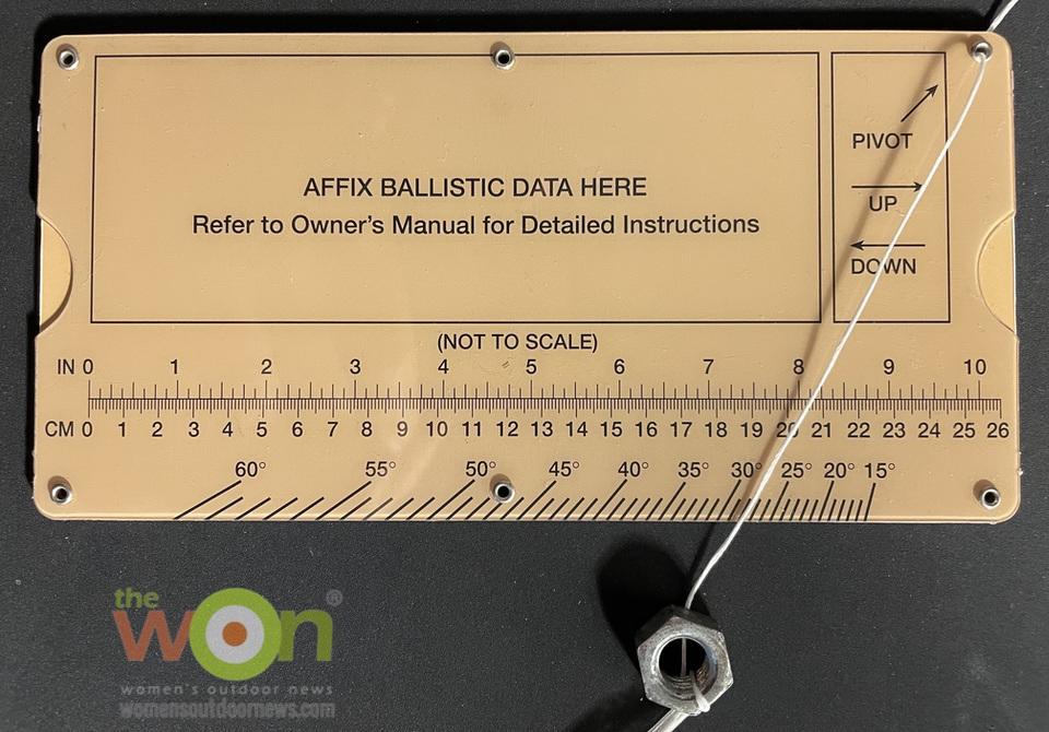 Mildot Master reverse side, slope adjustment tool Precision Rifle Shooting
