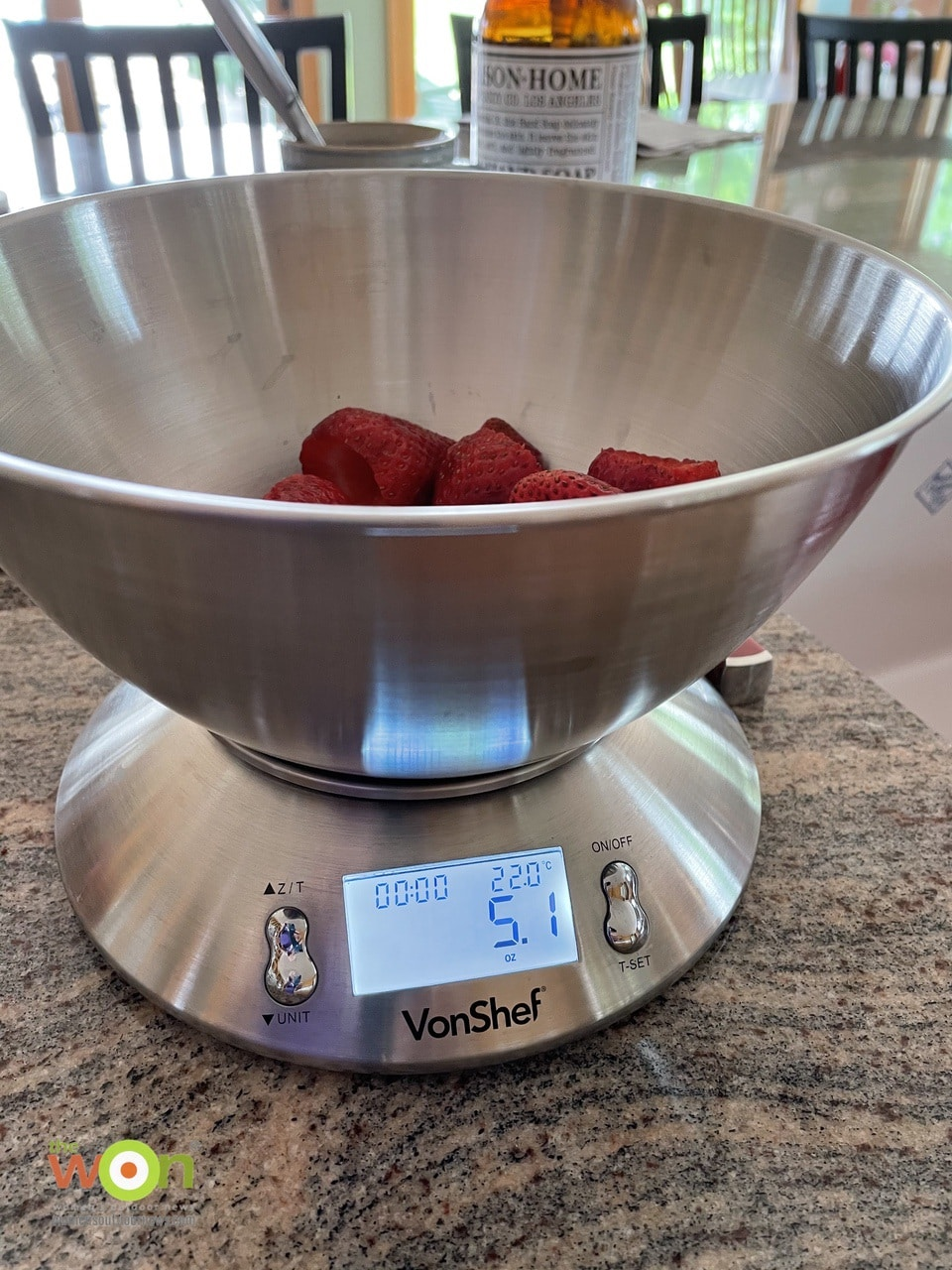 Strawberries on scale