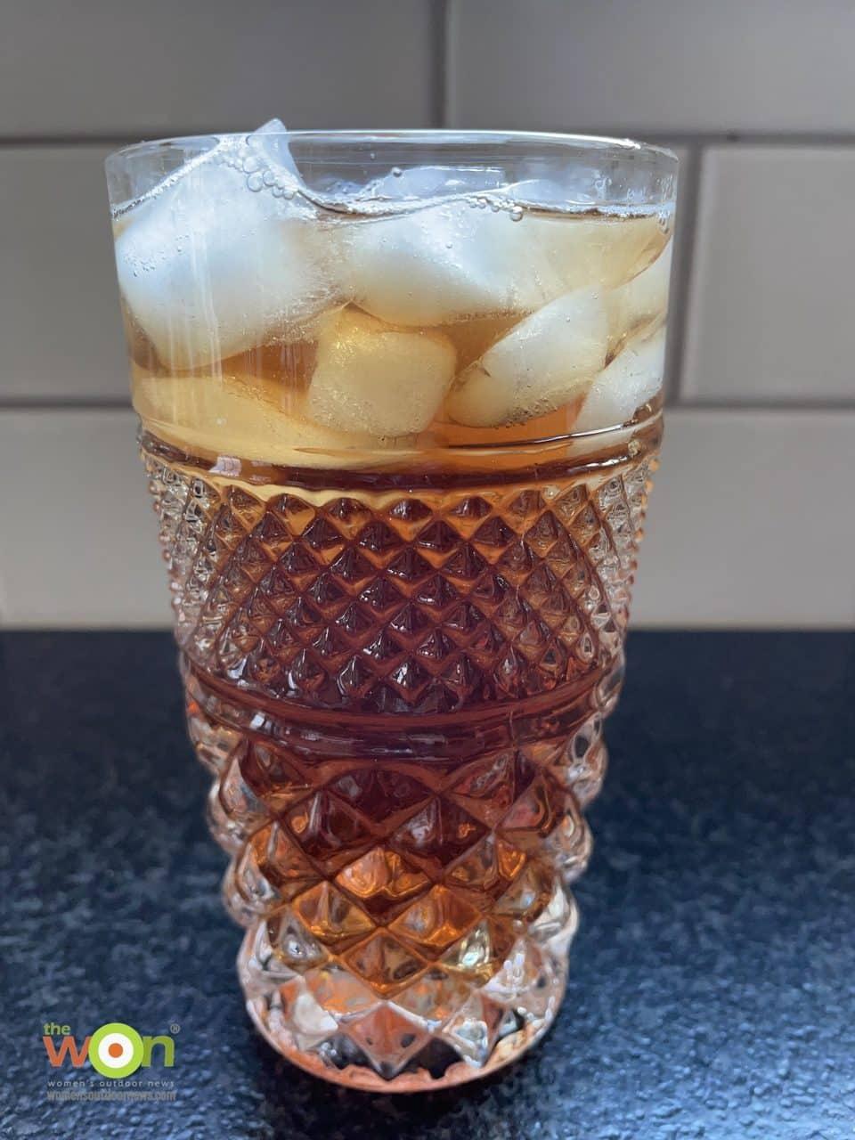 glass of strawberry sage iced tea
