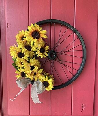 Bike Wreath feature