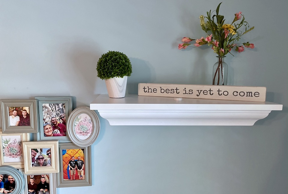 In plain sight shelf decorated