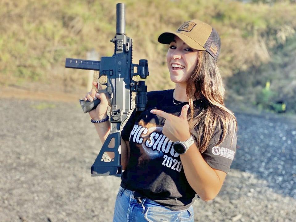 Julia Stallings on the range