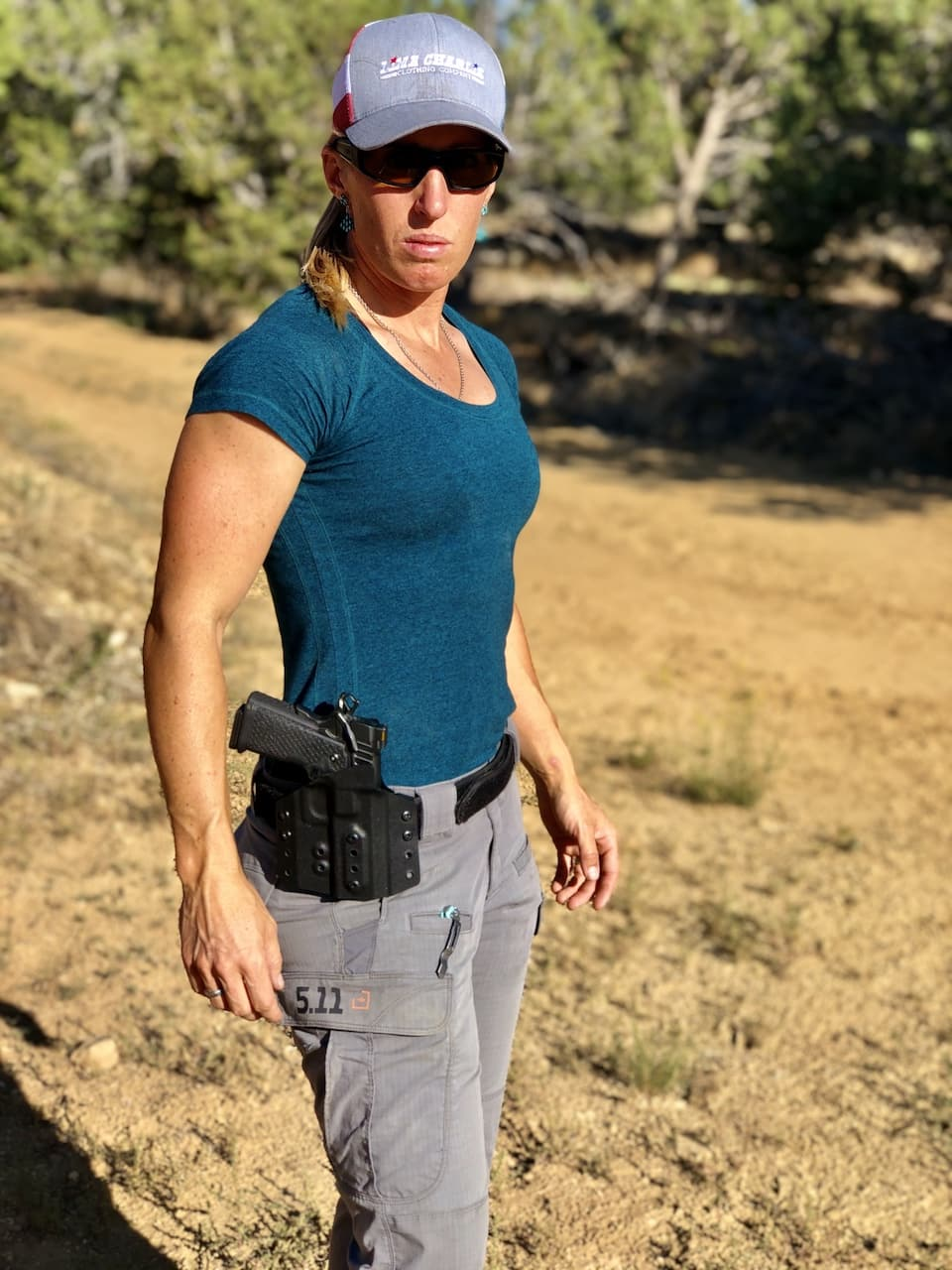 Lanny Barnes carrying handgun
