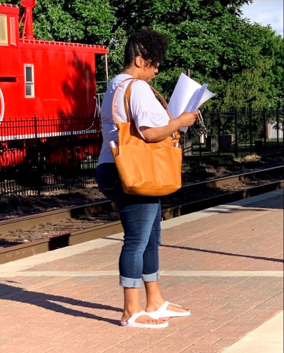 Sharenda headed for a latte' meeting with GTM's Concealed Carry Tote