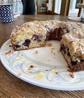Wild Blackberry Coffee Cake feature