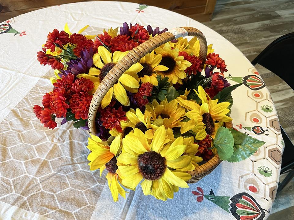 Yard sale flowers