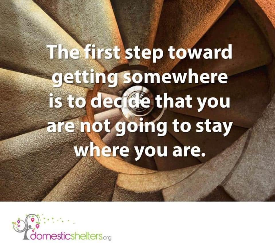 the first step quote Domestic Abuse