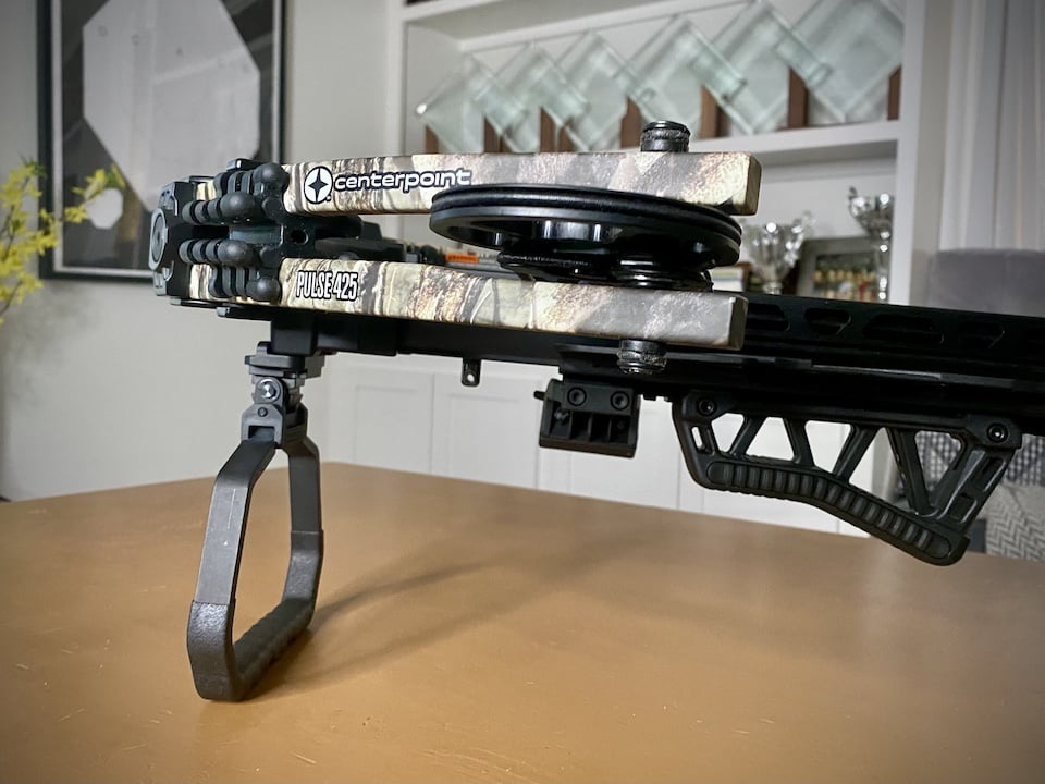 A built in stirrup bipod and handguard translate well for a rifle shooter