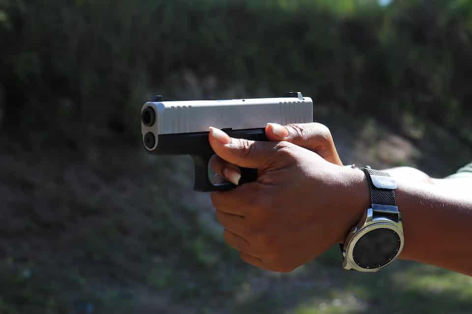 Avery Skipalis demonstrating trigger control Shooting Fundamentals