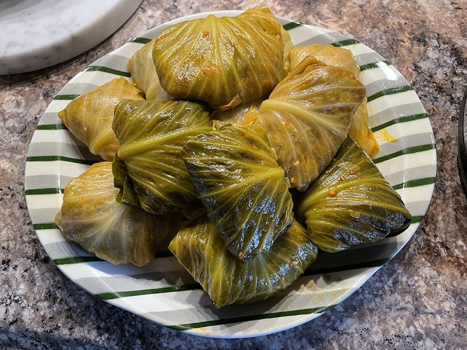 Cabbage Rolls on Platter