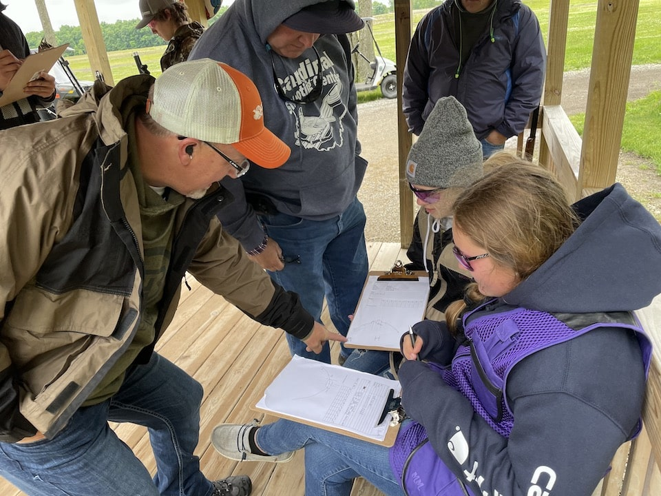 Dave teaching Olympic & Sporting Clays Development (OSCD) Camp