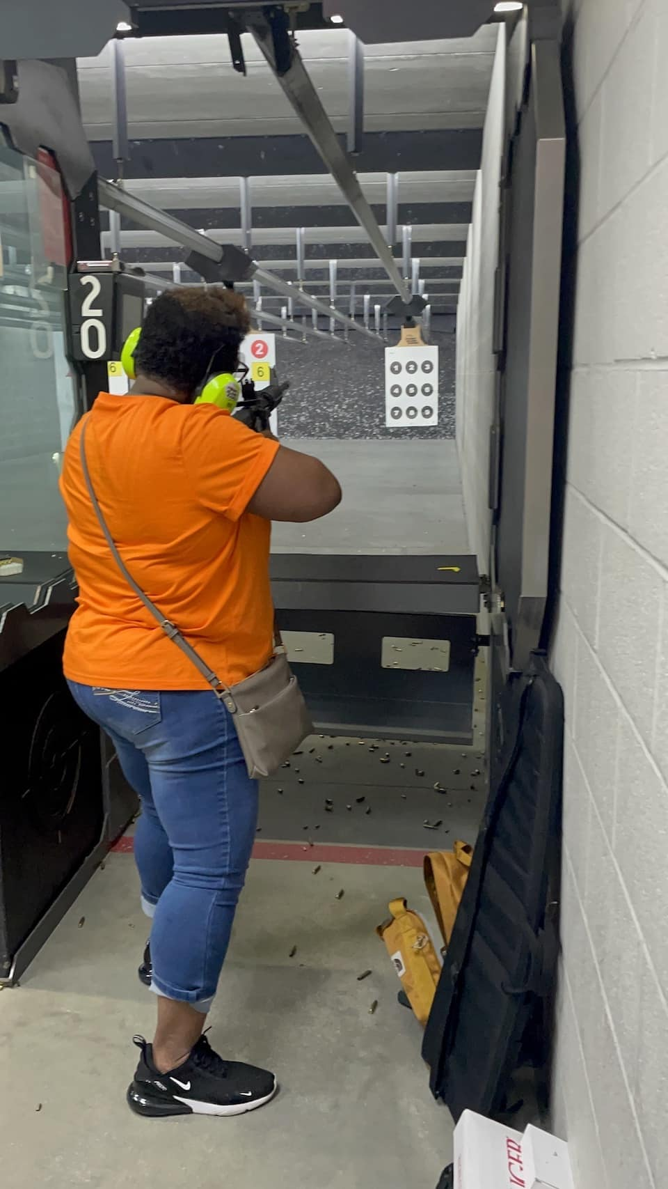 Sisters Denise at the range