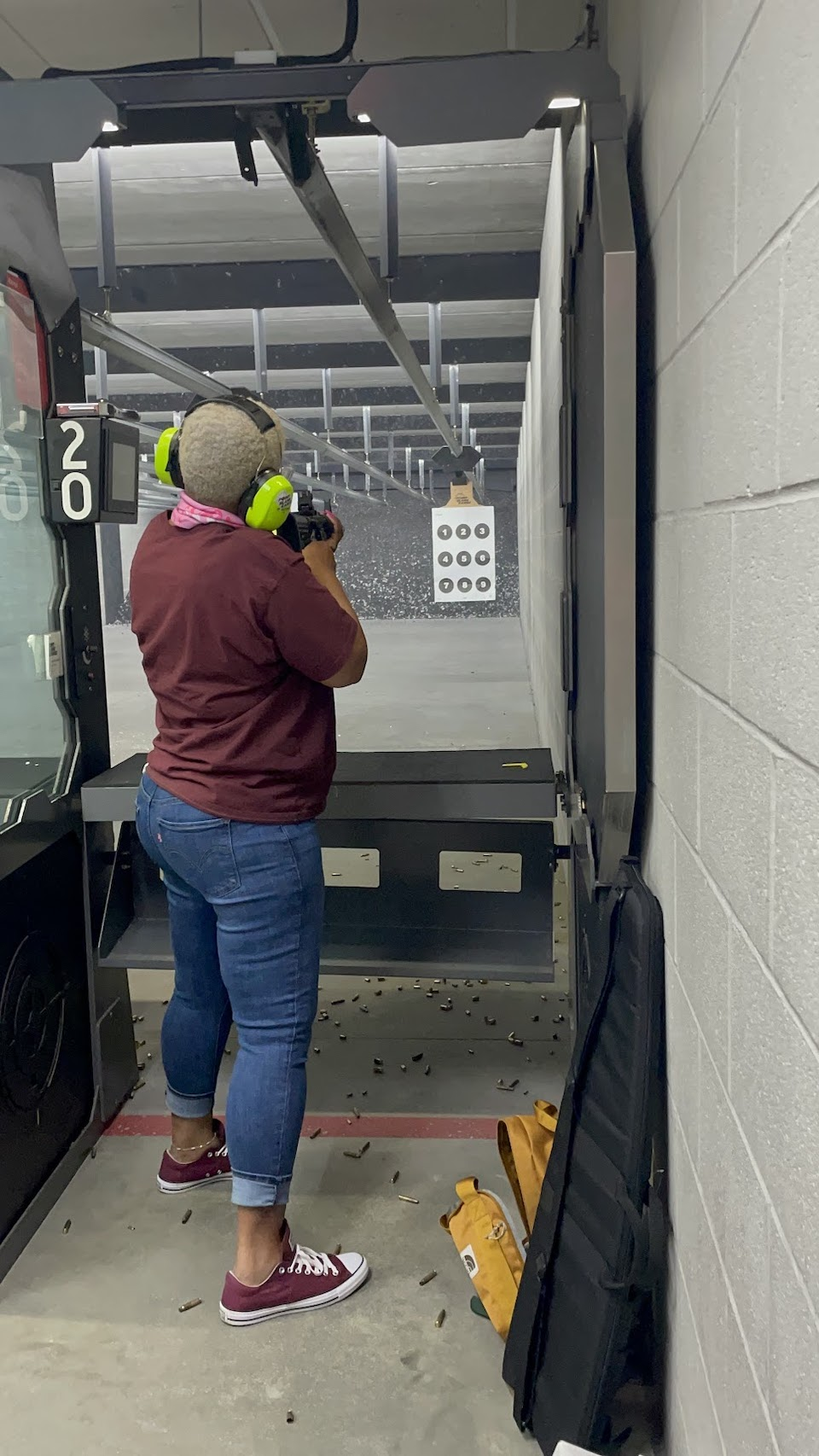 Kathryn at the range
