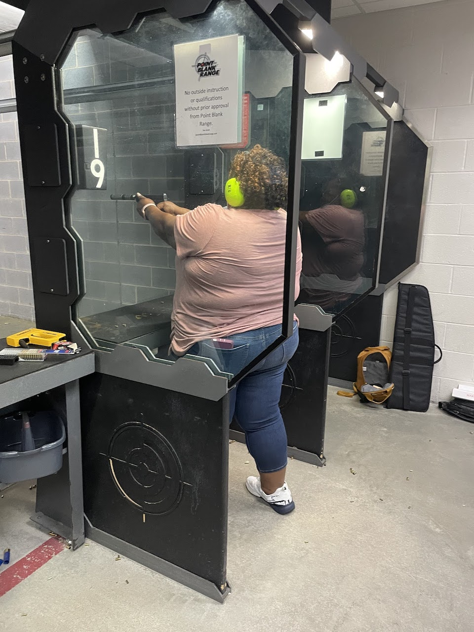 Patricia at the range