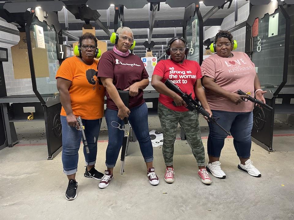 Sisters at the range