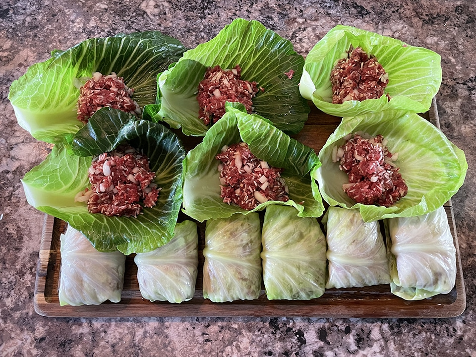 Stuffing the Cabbage Rolls 1