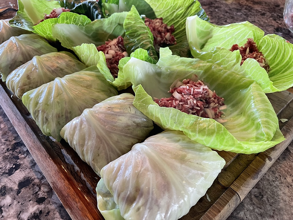 Stuffing the Cabbage Rolls 2