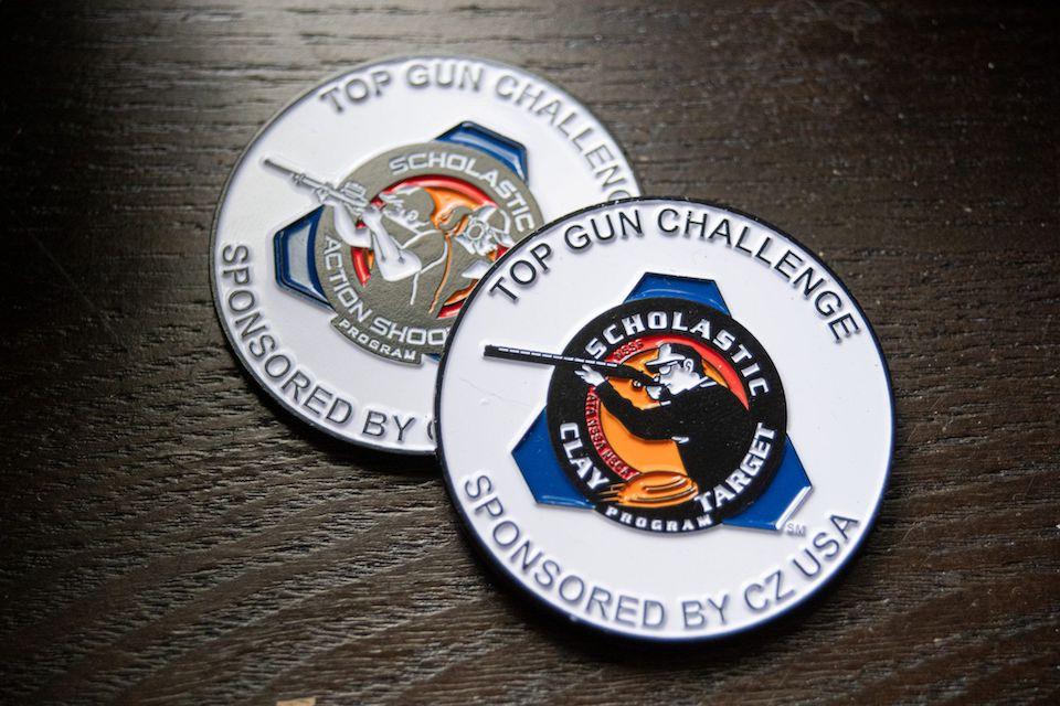 Top Gun Challenge coins SCTP National Championships