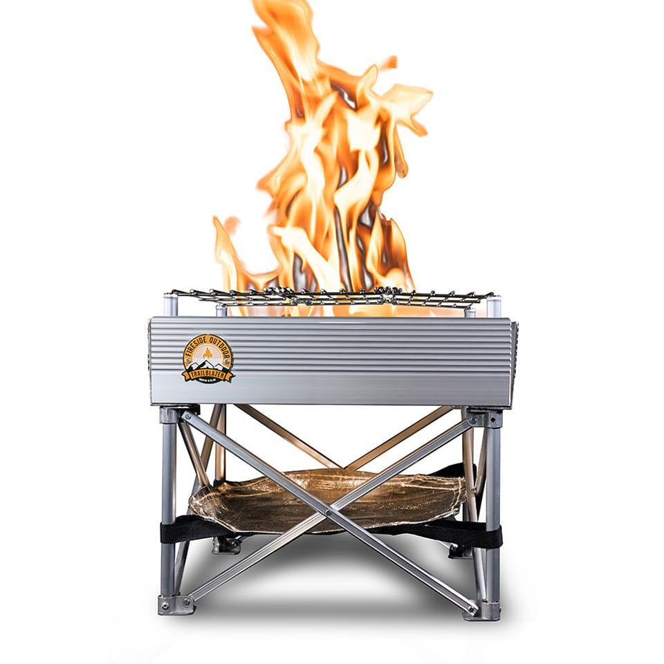 Trailblazer 2-in-1 Portable Fire Pit and Grill (MSRP $109.95)