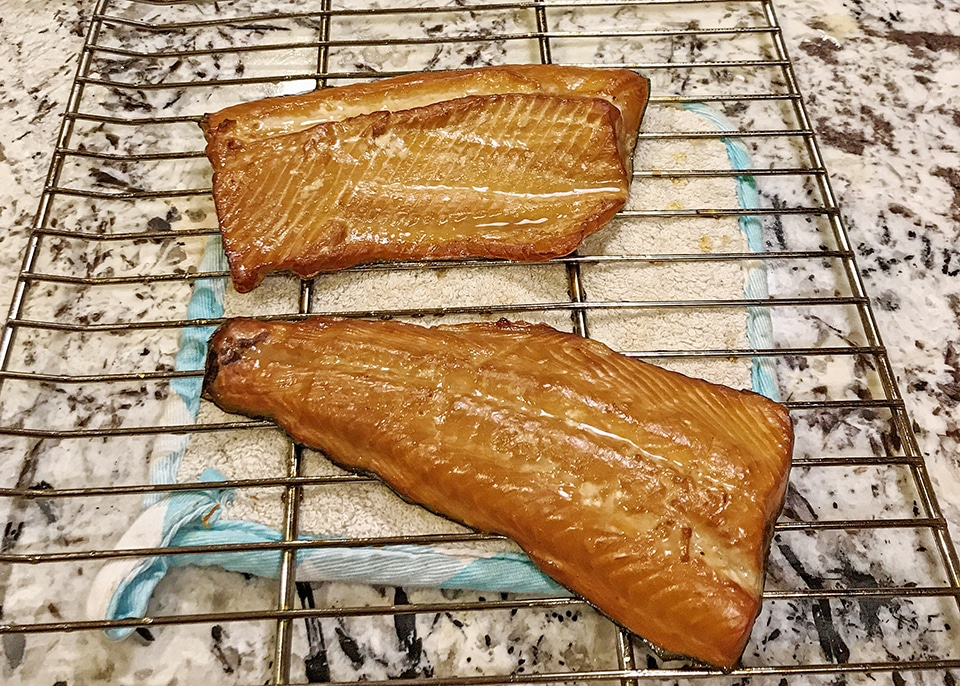 smoked trout finished product