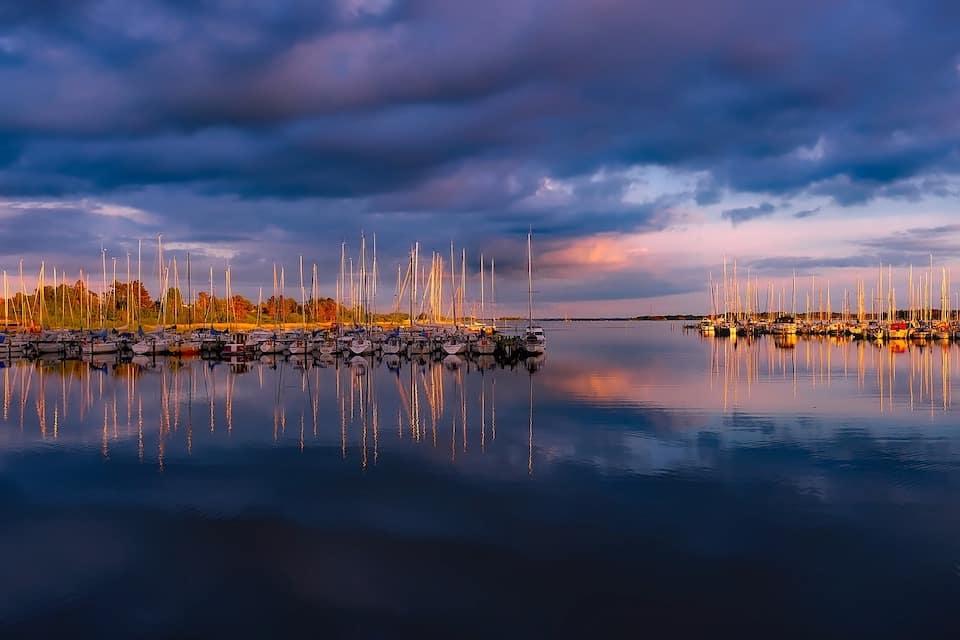 Fall Sailboats