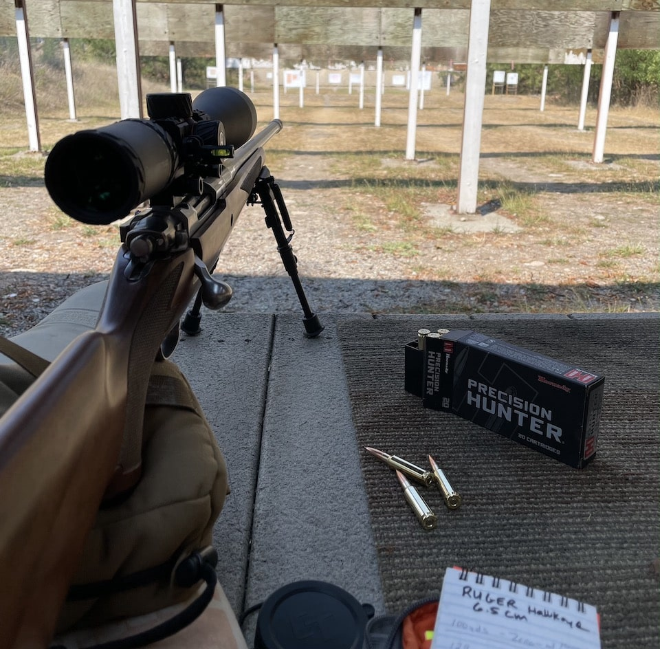 Initial sight-in 100 yards