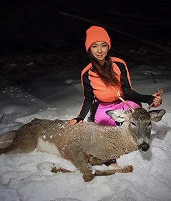 Jenny with deer - feature