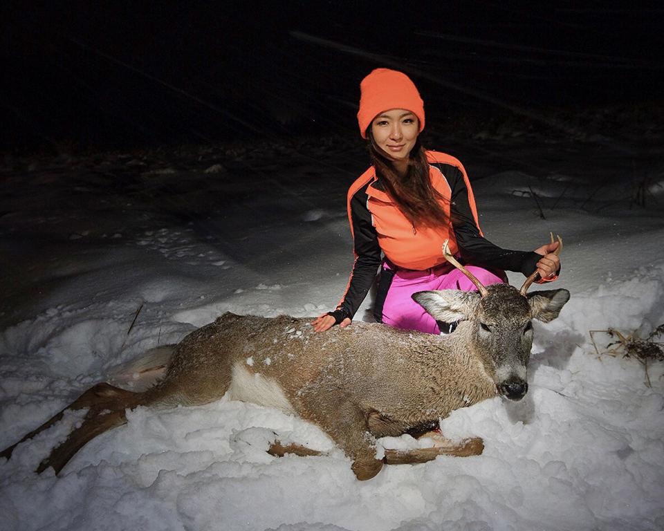 Jenny with deer