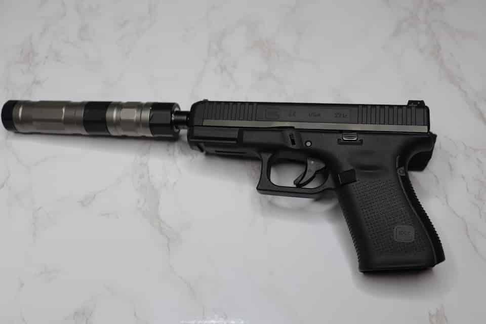 SilencerCo Switchback on Glock 44 Avery Skipalis Talks SilencerCo Suppressors for Teaching