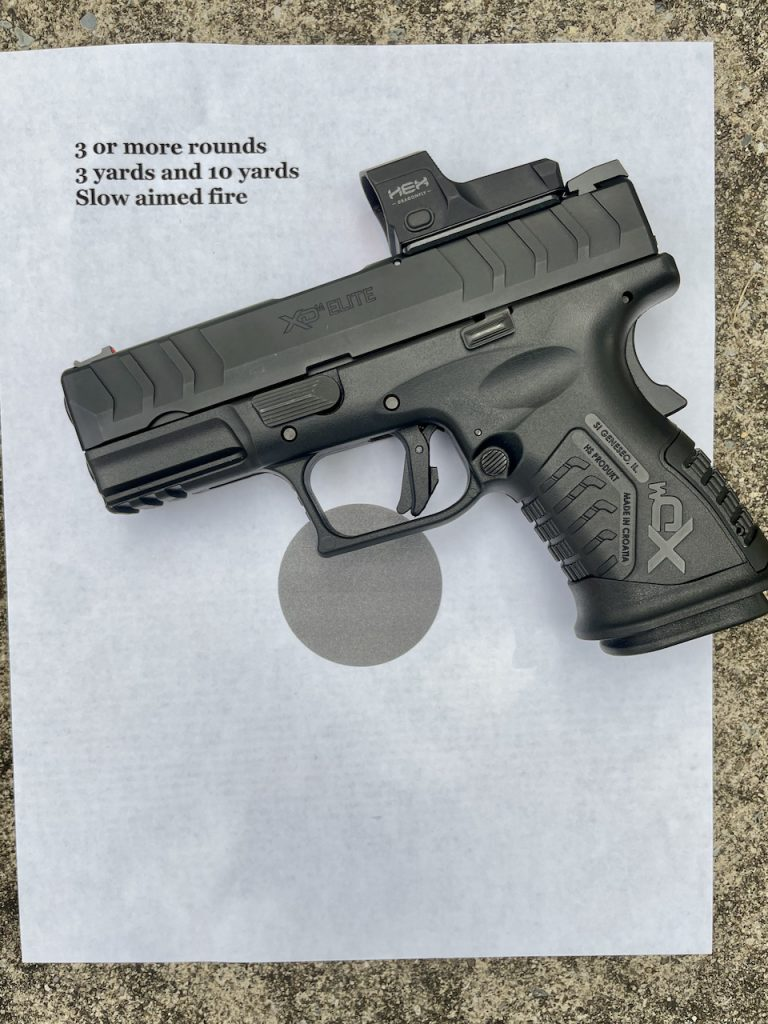 Slow aimed red dot drill