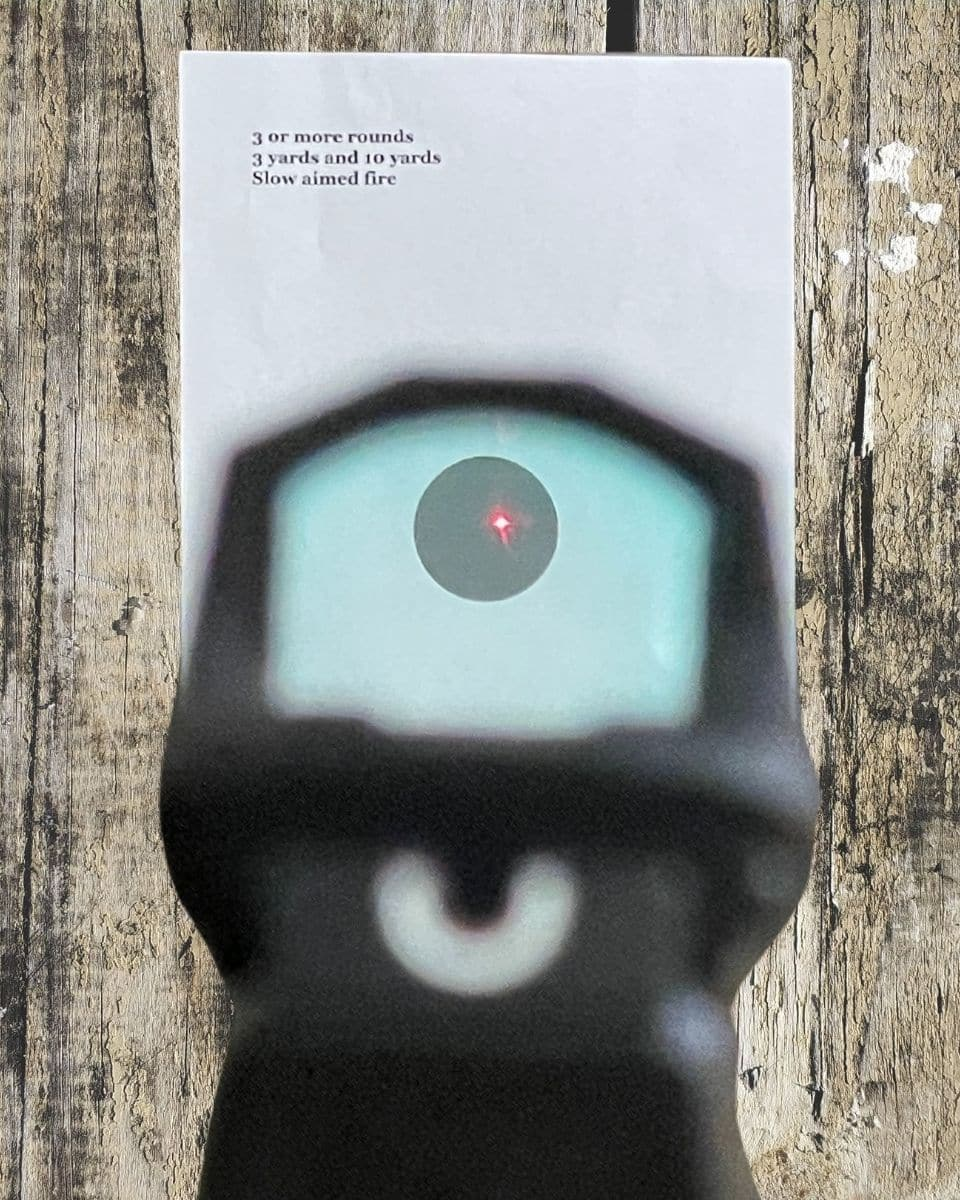 red dot slow aimed fire drill