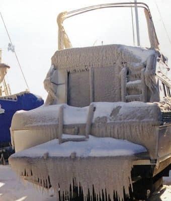 winterizing boat feature