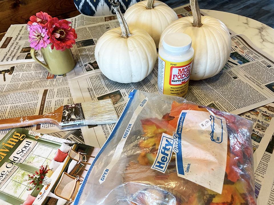 Falling Leaf Pumpkin Materials