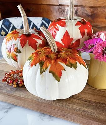 Falling Leaf Pumpkin feature